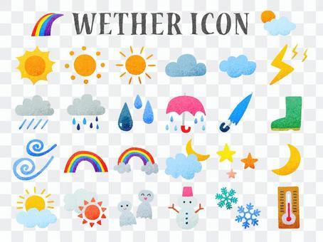 天氣手繪風圖標集