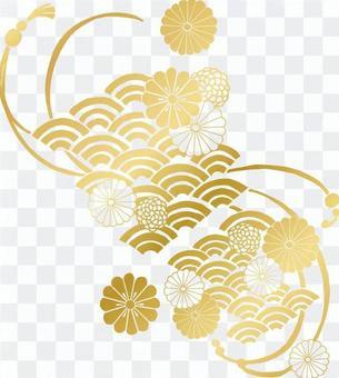 菊花圖案(金·明亮)