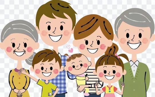 Nakayoshi七人家庭上半身