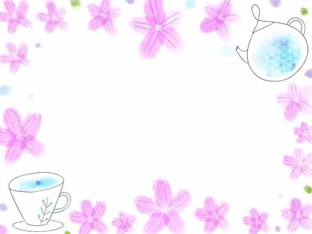 藍色錦葵框架