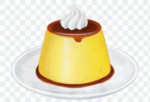 プリン&ホイップクリーム