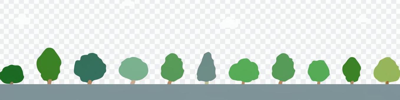 街路樹の風景