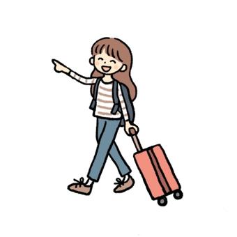 旅行的女人