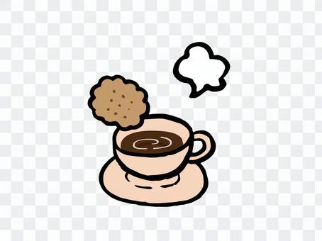 ビスケットとコーヒー