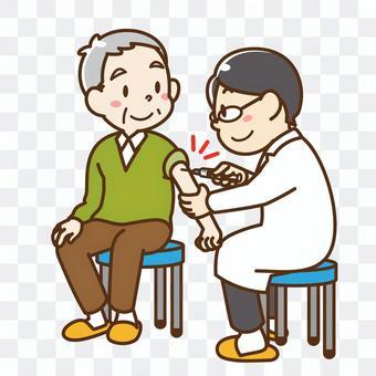 老年人已接種疫苗_祖父