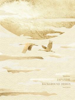 新年賀卡青海波日本背景 37