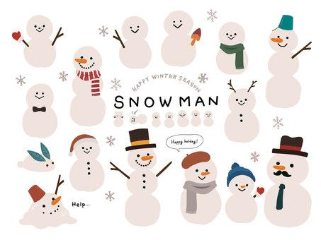 Assorted snowmen