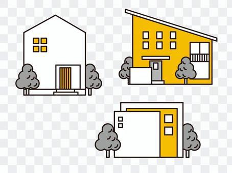 Simple design housing set