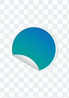Round seal (blue)