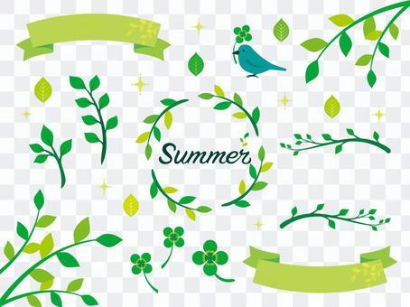 夏天綠色例證