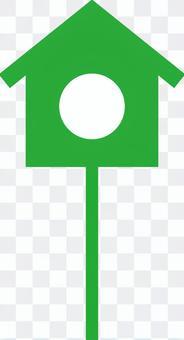 Birdhouse (green)