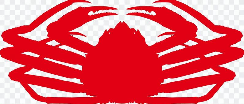 Matsuba crab _ Silhouette _ red