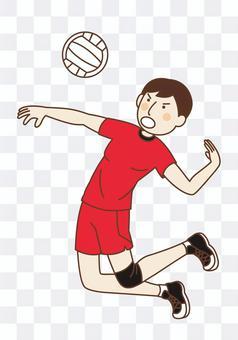 襲擊的排球運動員