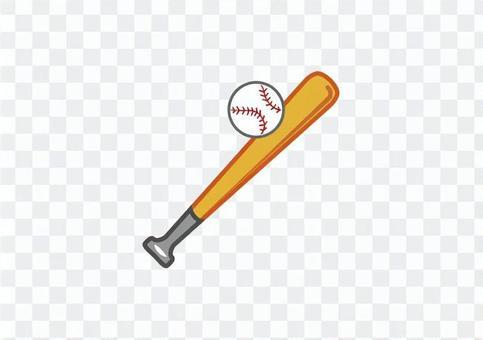 棒球球棒和球