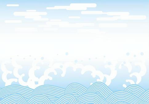 夏のイメージ 和の波3