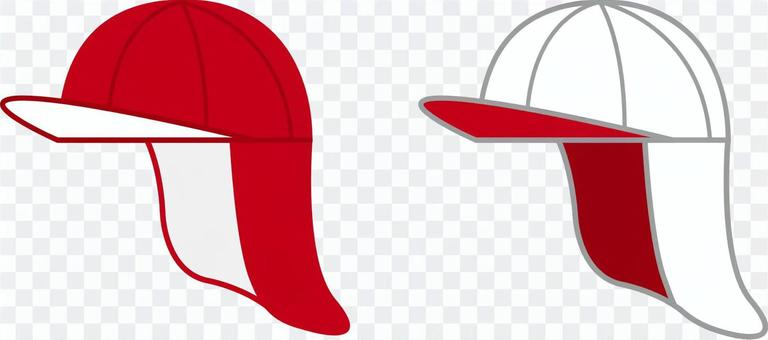 Red and white hat, red and white hat