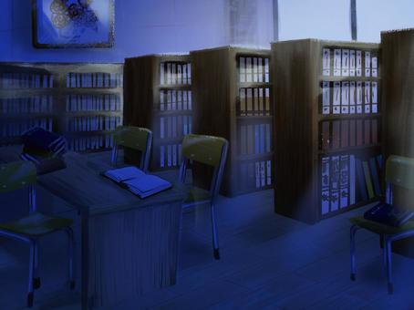ゆるい図書室・夜