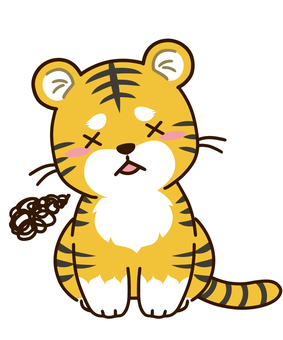 Disappointed tiger character