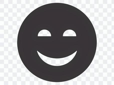令人毛骨悚然的微笑圖標