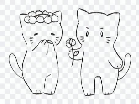 貓情侶圖畫書