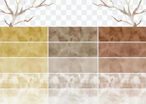 水彩圖案色板8棕色