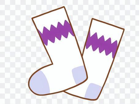 くつ下(紫)