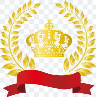 Free illustration Free material Ribbon attachment crown decorative frame