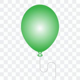 綠色氣球的插圖