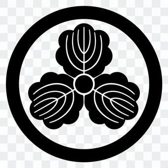 柏紋 하루에 세 카시와 일본의 가문