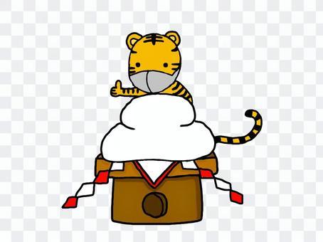 Mochi and tiger