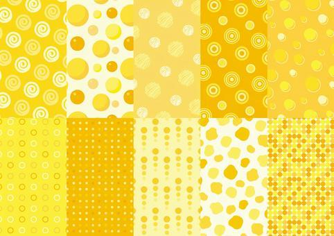 Citrus polka dot pattern