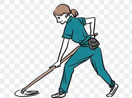 女清潔工的清潔工