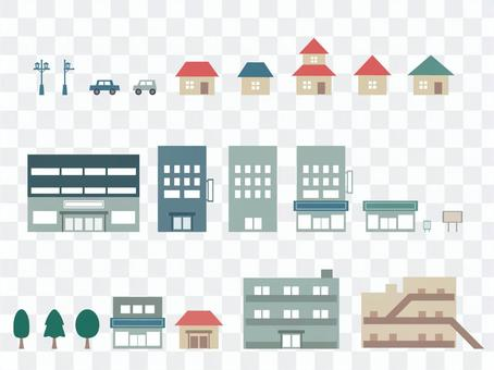 House / building icon set
