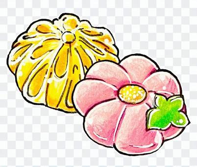 ふたつの和菓子