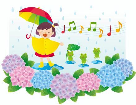 在雨中唱歌