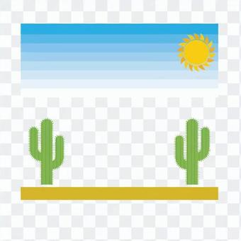 Landscape that you can see the cactus