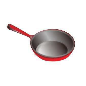 Frying pan (red)