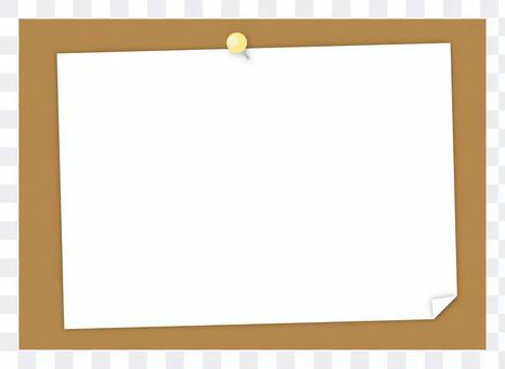 軟木板上的紙
