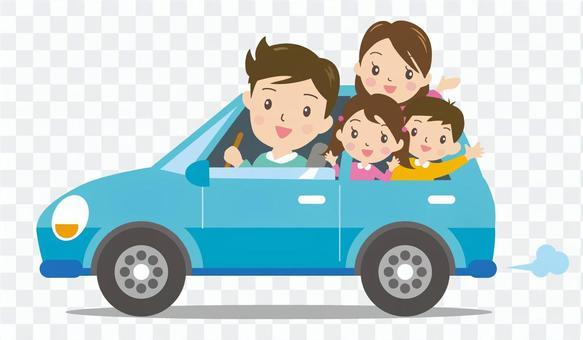 和家人一起開車2