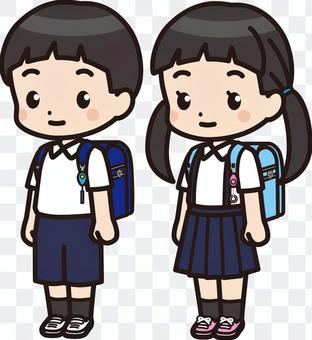小學男孩和女孩2