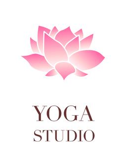Yoga studio logo, signboard image
