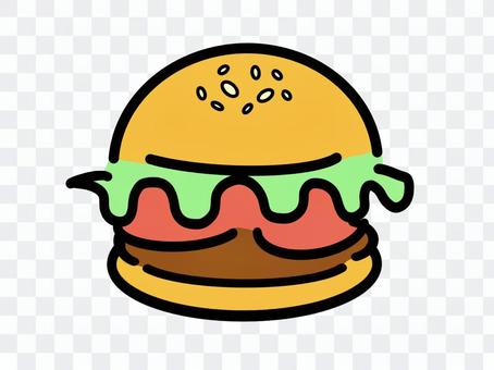 Hamburger illustration material