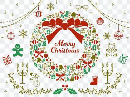 聖誕節/手繪插圖集/花圈