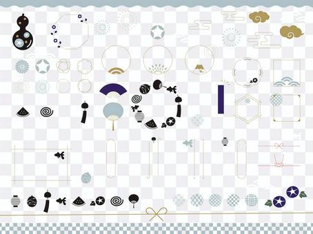 夏季時尚日本設計材料集 02