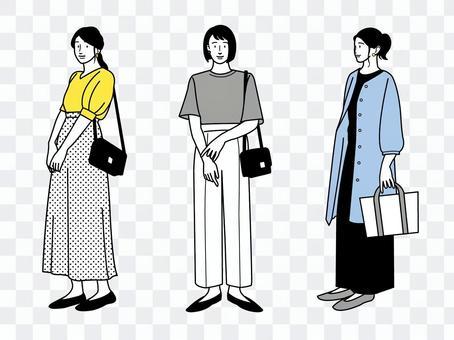 時尚女性套裝