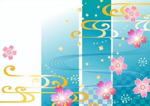 日本風格的插圖