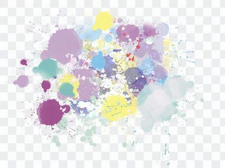 多彩的背景材料與彈出水彩