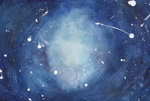 藍色背景,如太空或深海