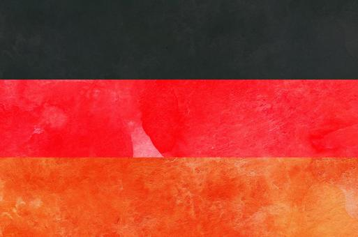 Flag watercolor Germany