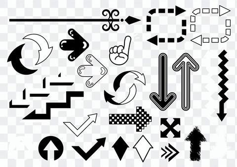 Pop monochrome arrow set 2